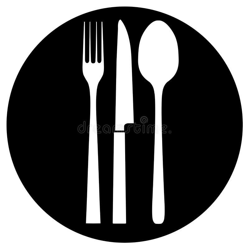 图标餐馆 皇族释放例证