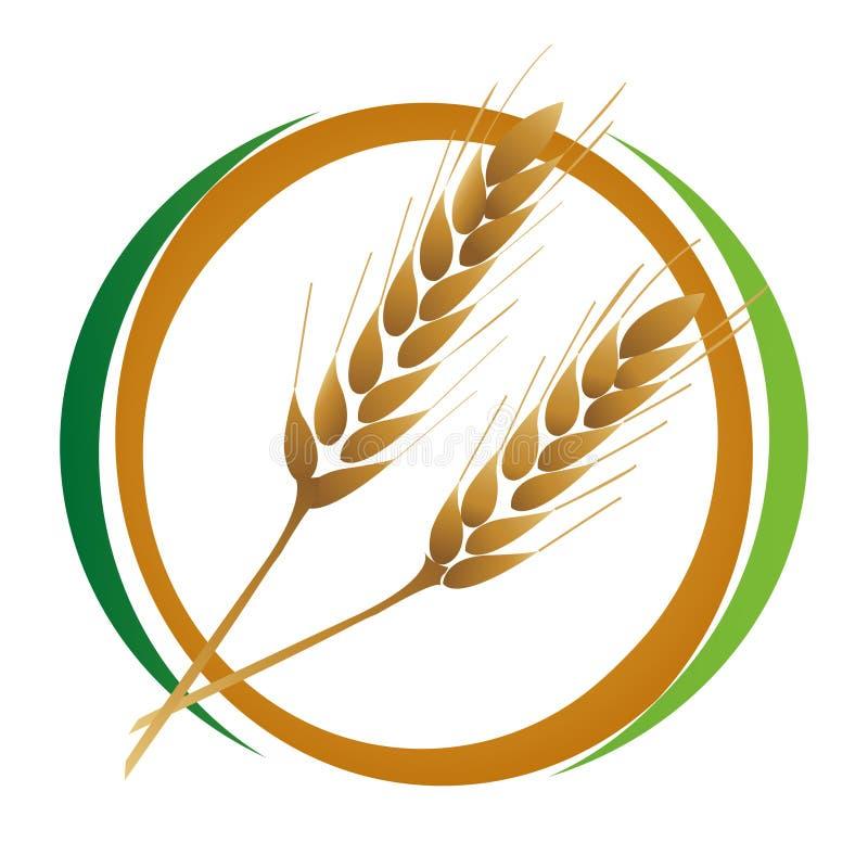 图标麦子 库存例证