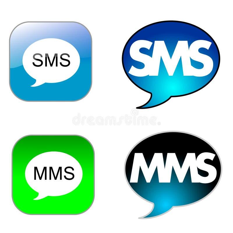 图标sms 向量例证