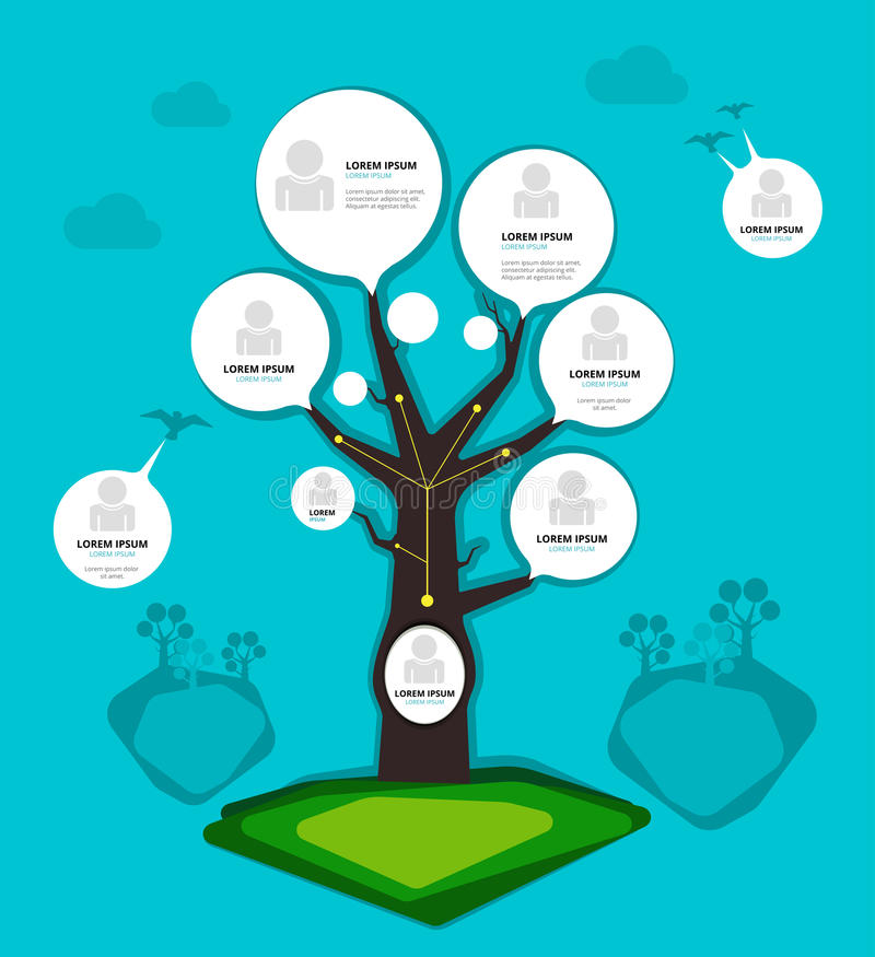 组织系统图树概念 也corel凹道例证向量 库存例证