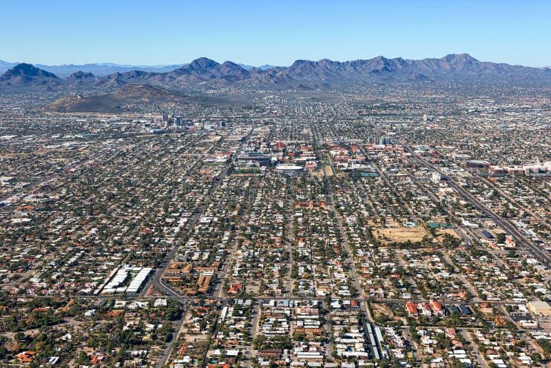 图森,亚利桑那地平线  免版税图库摄影