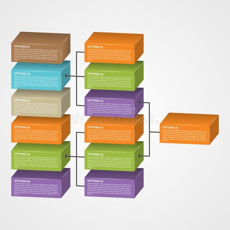 组织系统图模板 皇族释放例证