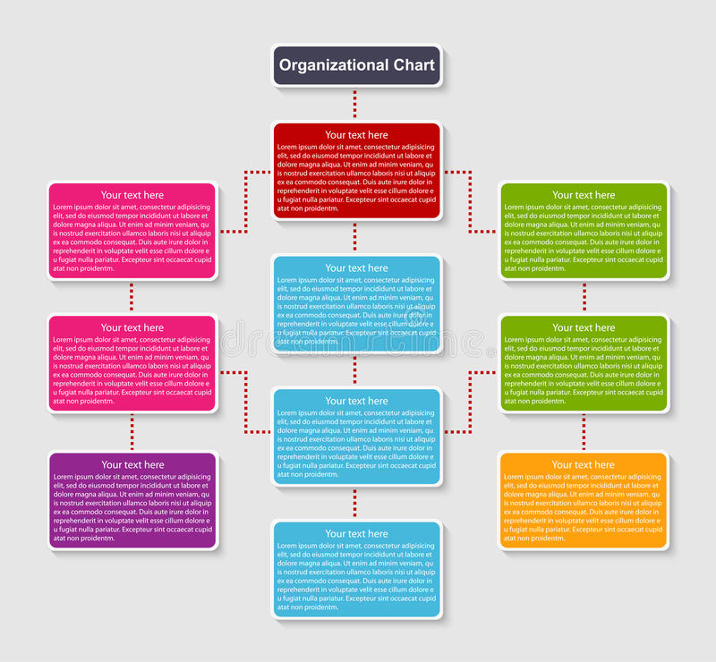 组织系统图模板 库存例证