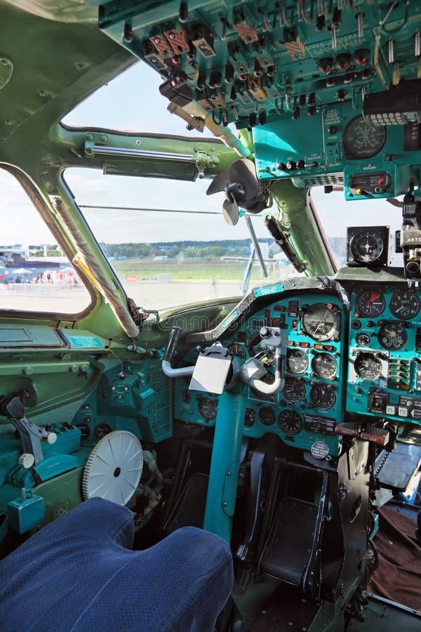 图波列夫Tu134A 免版税库存照片