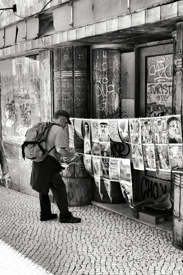 图片待售在里斯本 免版税库存图片