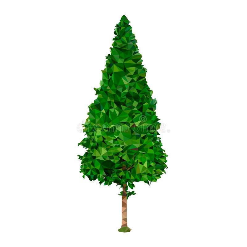 图片木三角,三角测量绿色树干 库存例证