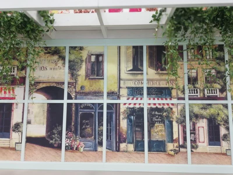 图片称`在欧洲`的窗口 库存图片