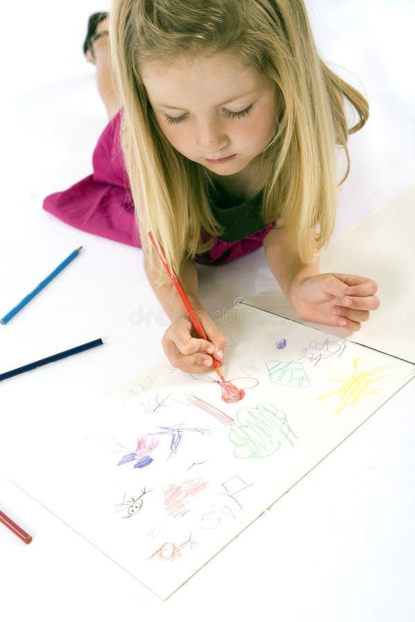 图画女孩 免版税库存照片