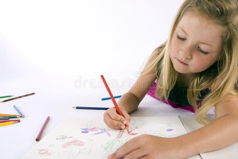 图画女孩 免版税库存图片