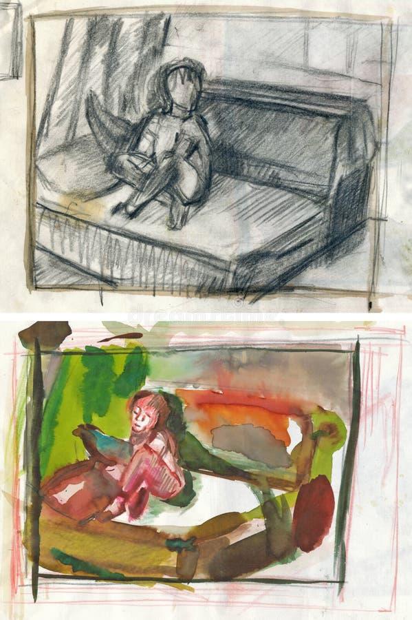 图画家庭其它 向量例证