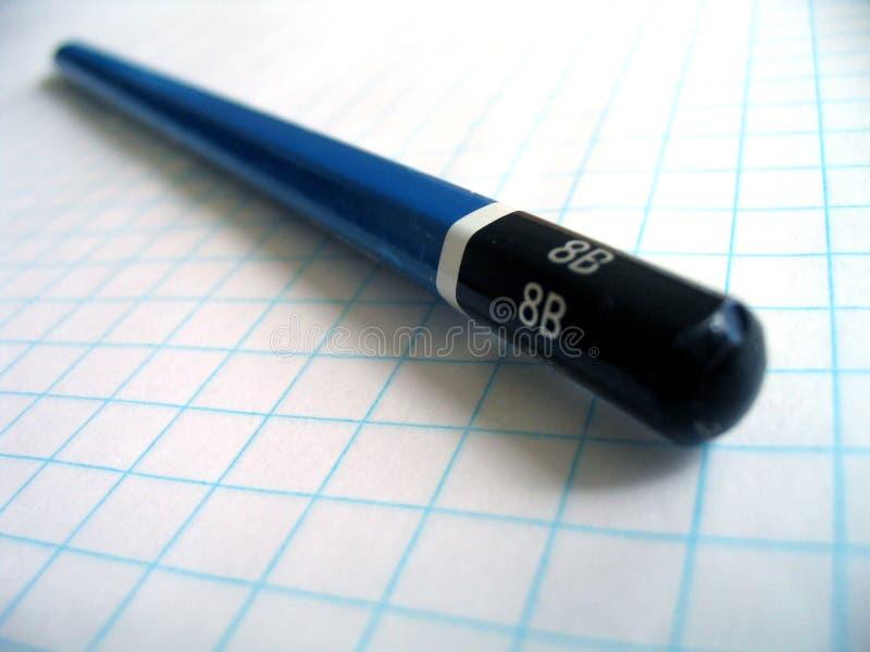 图画座标图纸铅笔 库存图片