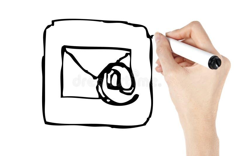 图画电子邮件图标 库存照片