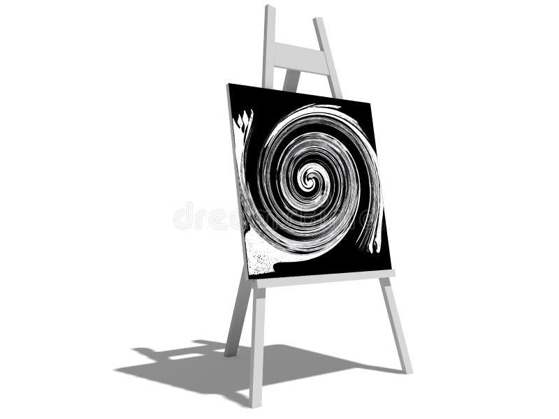 图画画架 皇族释放例证