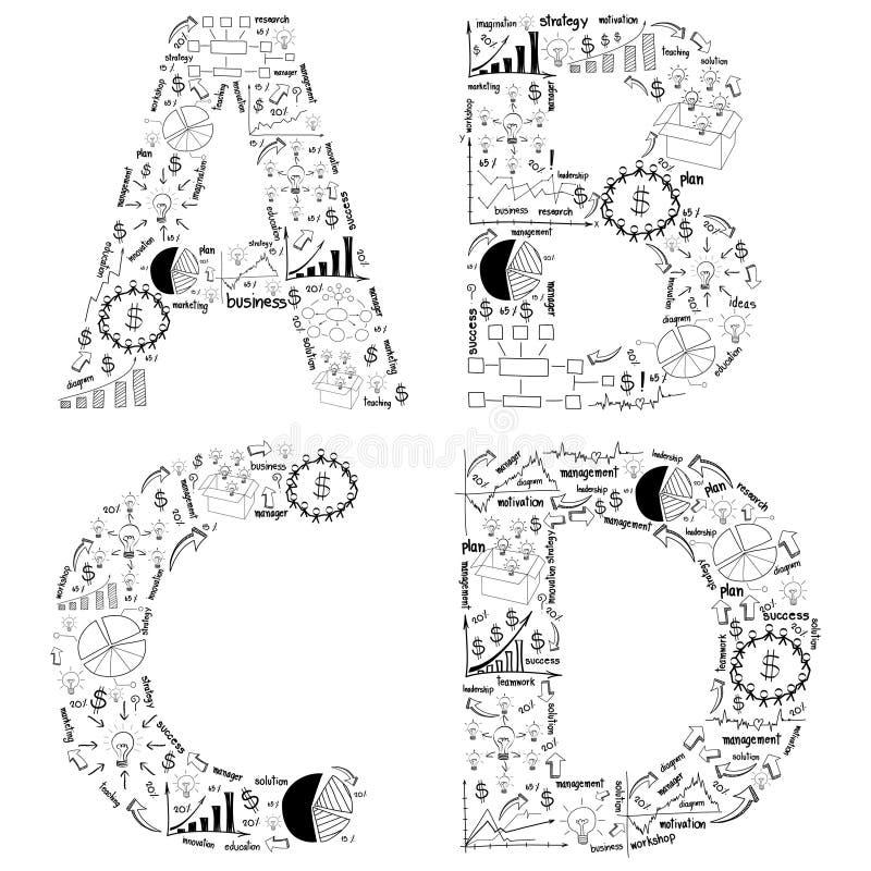 图画经营战略计划字母表信函概念想法  皇族释放例证