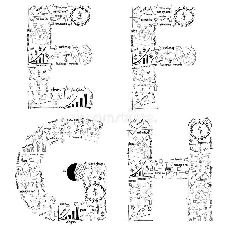 图画经营战略计划字母表信函概念想法  库存例证