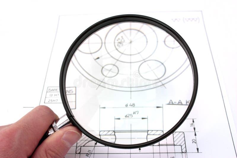 图画重点放大器复核技术 免版税库存照片