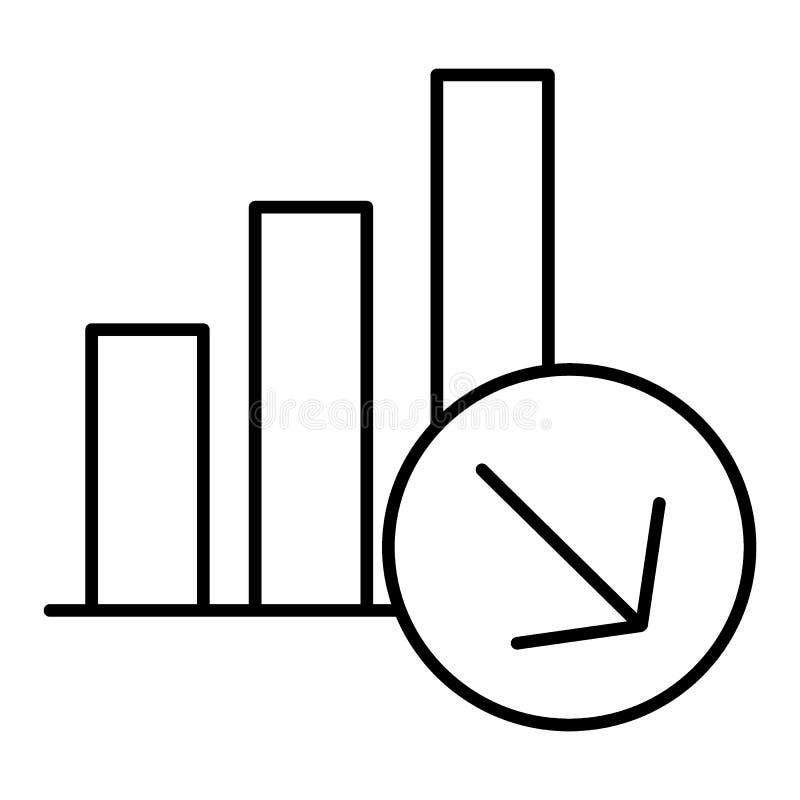 图秋天象,线设计 与专栏的日程表减少,传染媒介线性例证 在白色的Isolaed 皇族释放例证