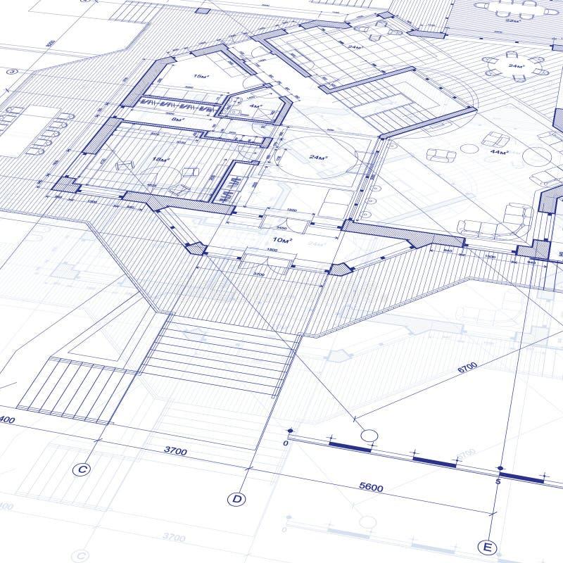 图纸房子计划 库存例证