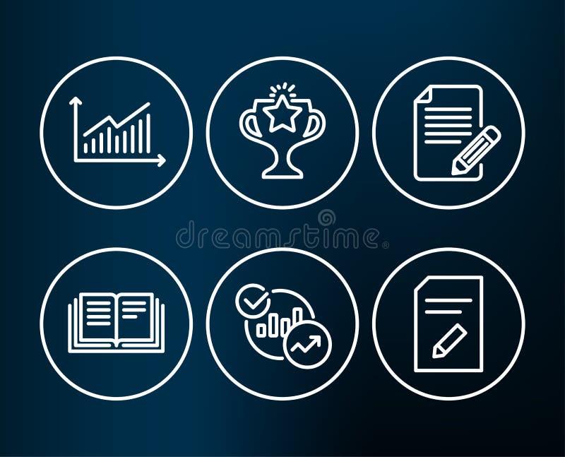 图表、教育和统计象 文章,胜利和编辑文件标志 库存例证