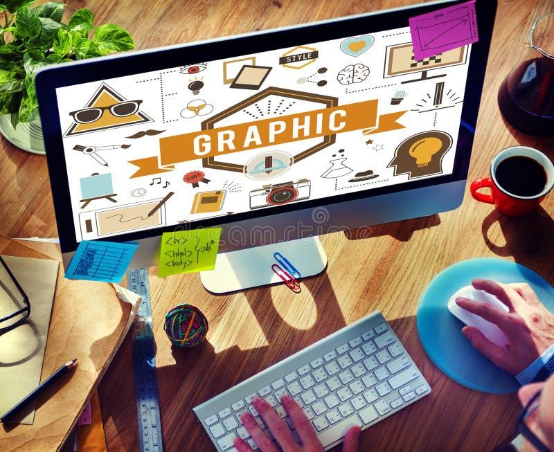 图表创造性的设计数字式说明视觉概念 库存照片