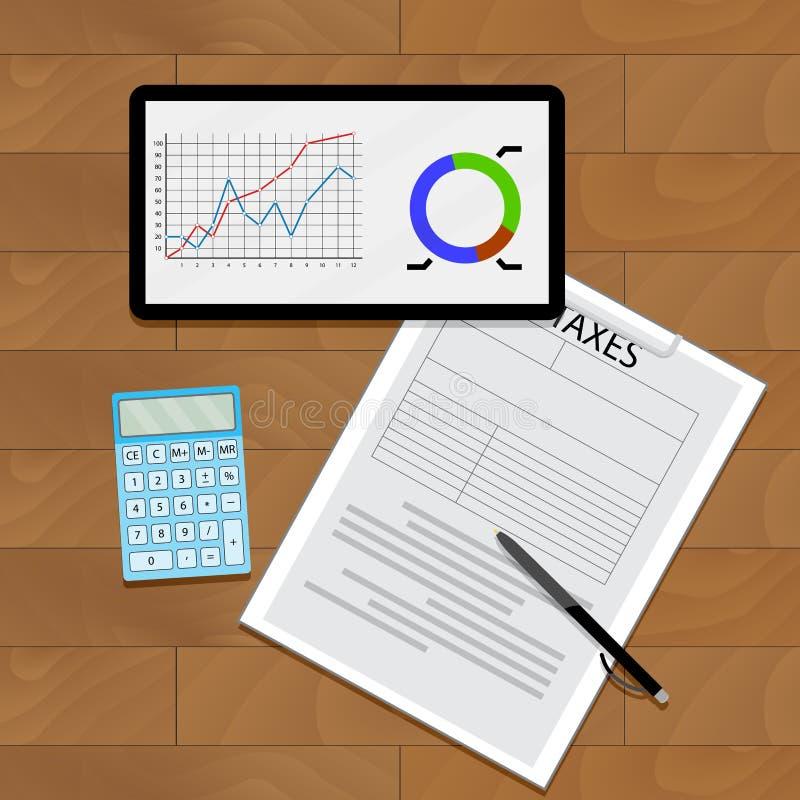 图表图和税 向量例证