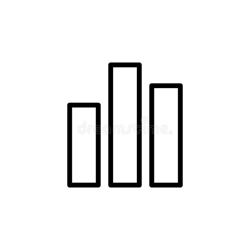 图表图标例证报表向量 能为网,商标,流动应用程序,UI,UX使用 皇族释放例证