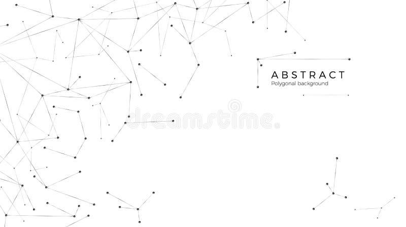 图表塑造的互联网或全球网络 r 分子结构-小点和线 r 库存例证