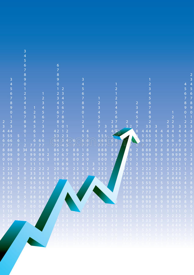图表增长 向量例证