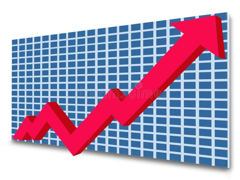 图表增长 皇族释放例证