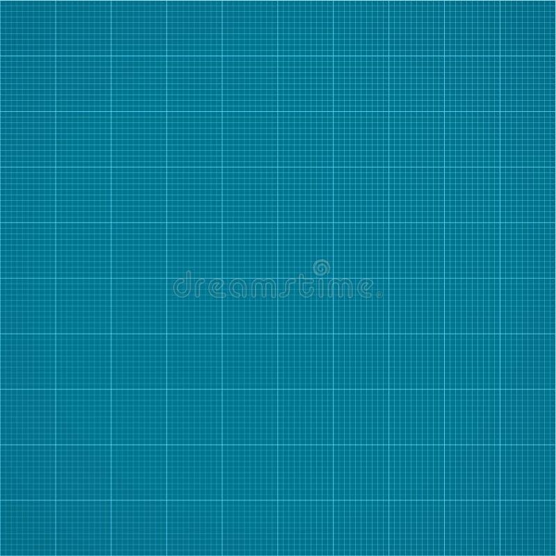 图表无缝的毫米栅格纸 传染媒介工程学背景 库存例证