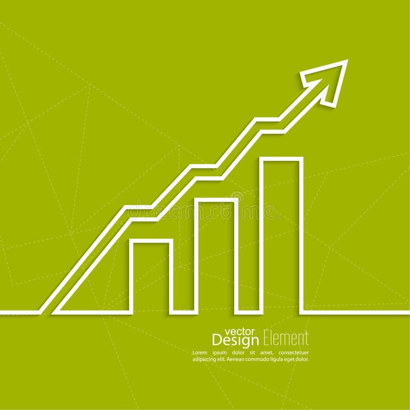 图表显示成长和赢利 向量例证