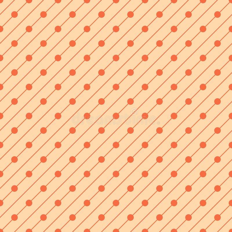 图表条纹和圈子与对角方向 向量例证