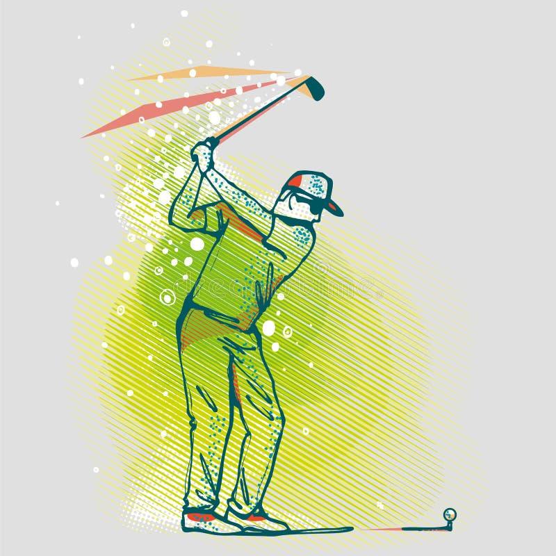 图表的背景,传染媒介图象高尔夫球运动员 皇族释放例证