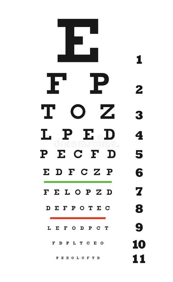 图表眼睛向量 皇族释放例证