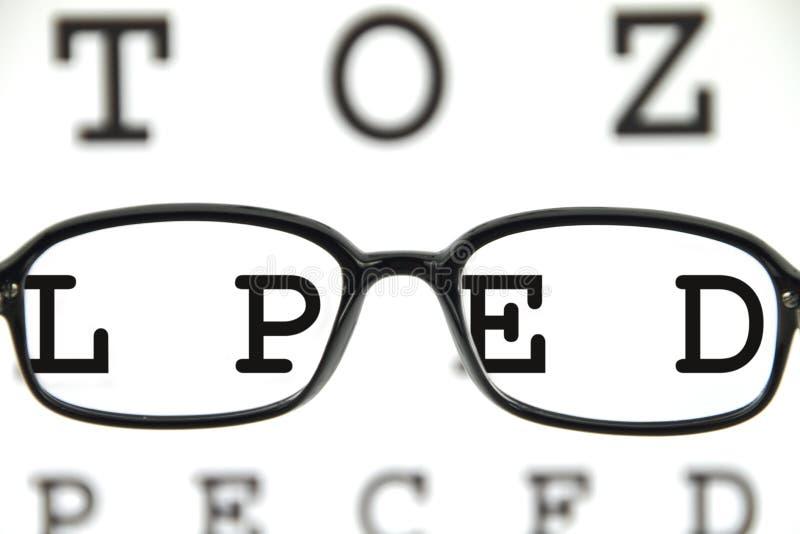 图表眼睛眼镜 免版税库存照片