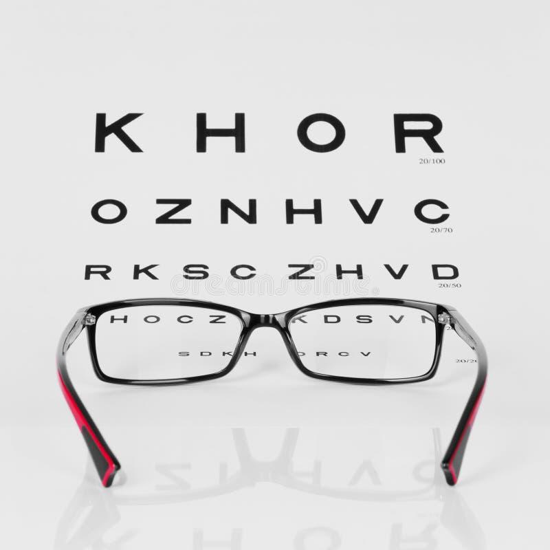 图表眼睛镜片读 库存照片