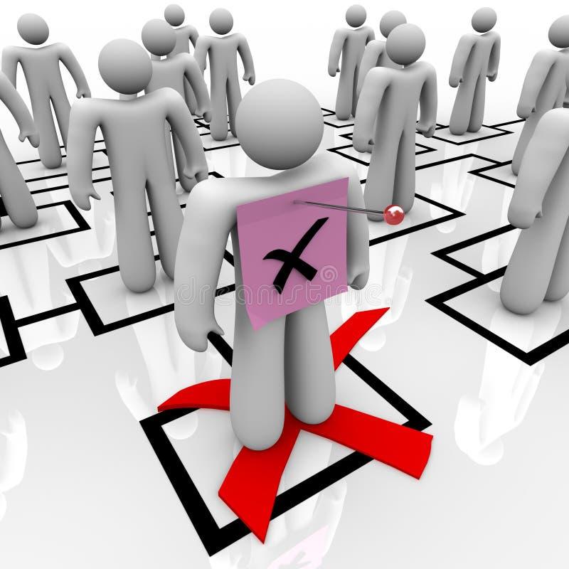 图表组织解雇通知书 向量例证