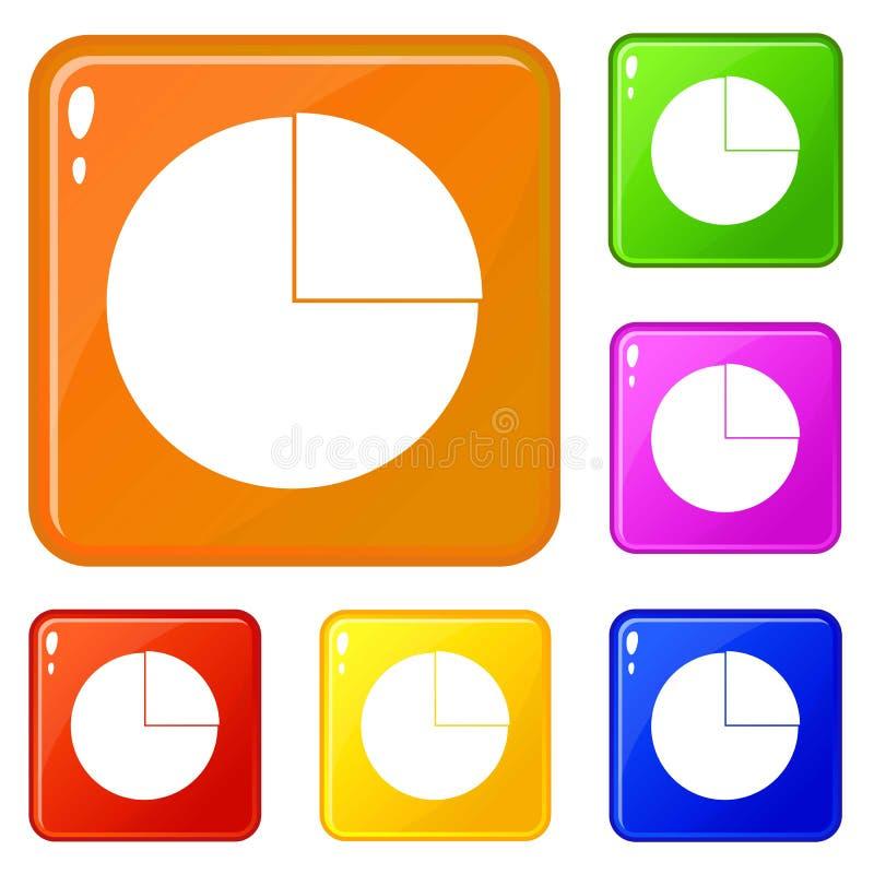 图表绘制统计象集合传染媒介颜色图表 向量例证