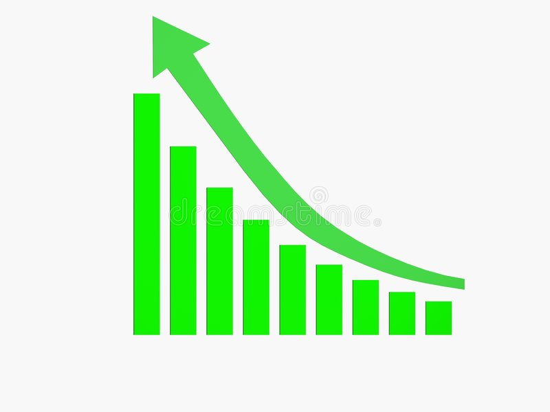 图表绿色增长 皇族释放例证