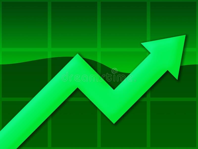 图表绿色 皇族释放例证