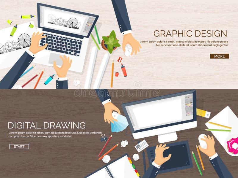 图表网络设计 图画和绘画 发展 自由职业者的例证速写和 用户界面UI 计算机 库存例证