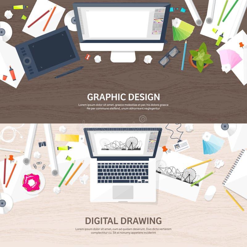 图表网络设计 图画和绘画 发展 自由职业者的例证速写和 用户界面UI 计算机 皇族释放例证