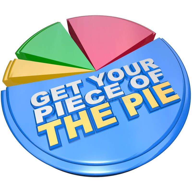 图表获得评定的饼片财富您 向量例证