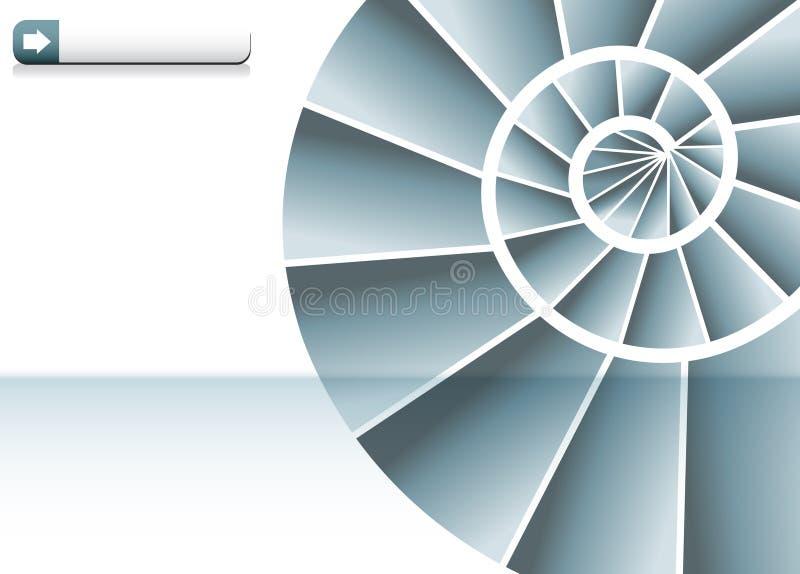 图表螺旋形楼梯 皇族释放例证