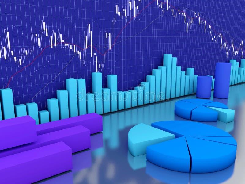 图表财务股票 库存图片