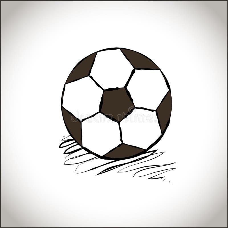 图表足球 手拉的样式橄榄球球 足球象 炫耀象 黑白简单的橄榄球球 体育运动 皇族释放例证