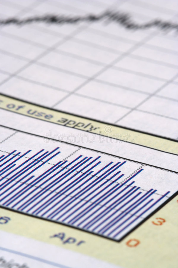图表近景股票 库存图片