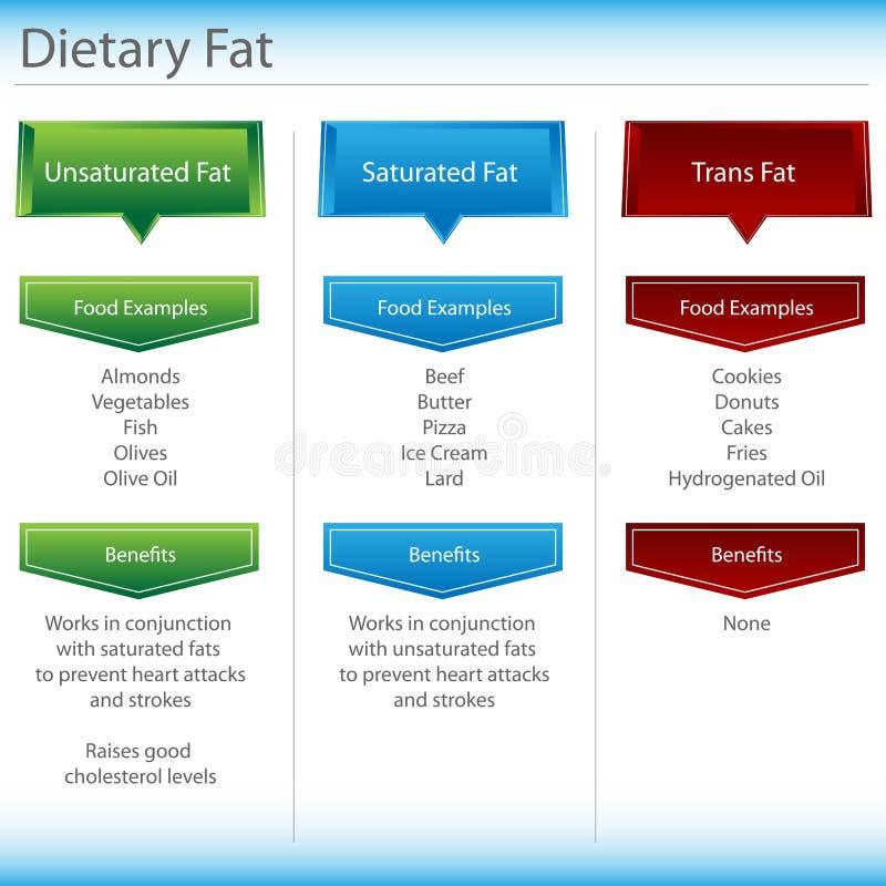 图表饮食油脂 向量例证