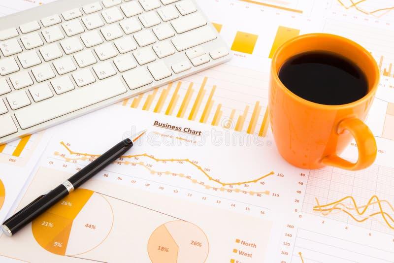 图表,图,数据报告 免版税库存照片