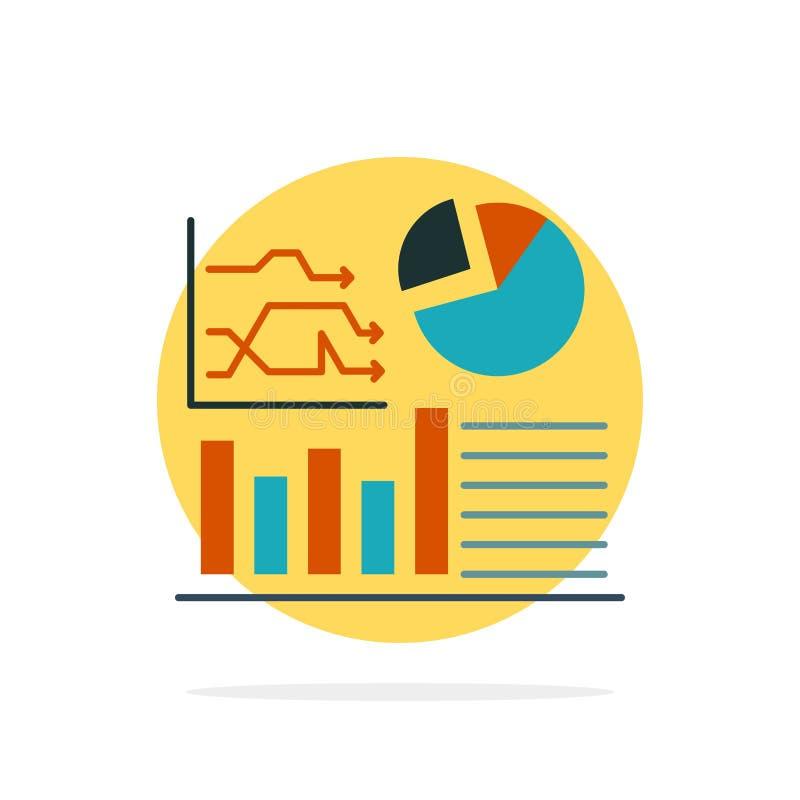 图表,成功,流程图,企业摘要圈子背景平的颜色象 库存例证
